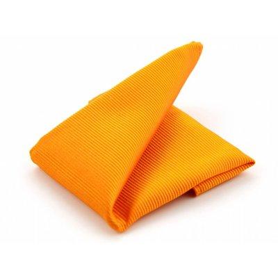 Pochet oranje zijde geweven