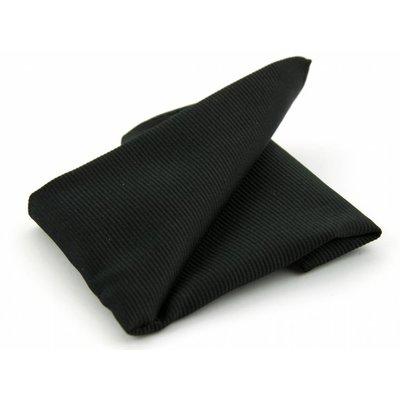 Pochet zwart zijde geweven