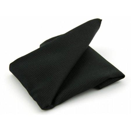 Pochet zwart geweven