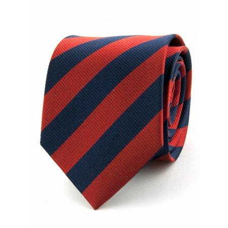 100% zijde stropdas marineblauw/rood