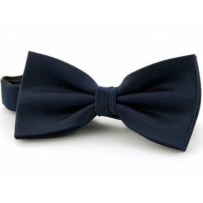 Strik marineblauw 100% zijde