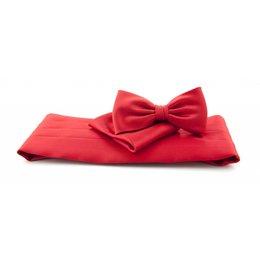 Cummerband set rood