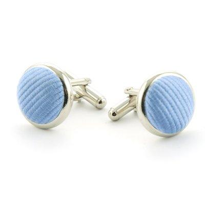 Manchetknopen 100% zijde lichtblauw