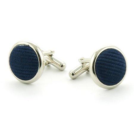 Manchetknopen zijde marineblauw - Copy