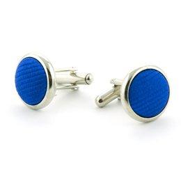 Manchetknopen 100% zijde kobaltblauw