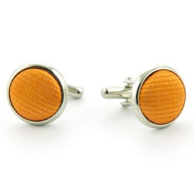Manchetknopen 100% zijde oranje