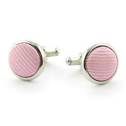 Manchetknopen 100% zijde roze