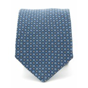 Stropdas Progetto blauw 100% zijde