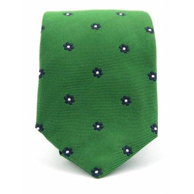 Stropdas Progetto groen 100% zijde
