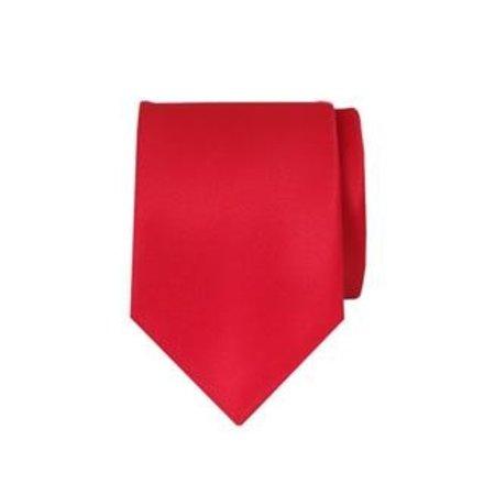Satijnen stropdas smal rood