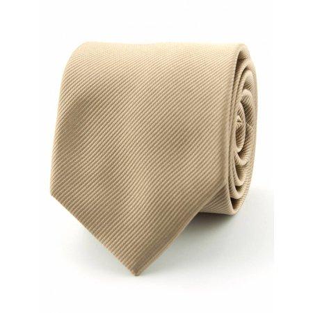 Zuiver zijde stropdas camel