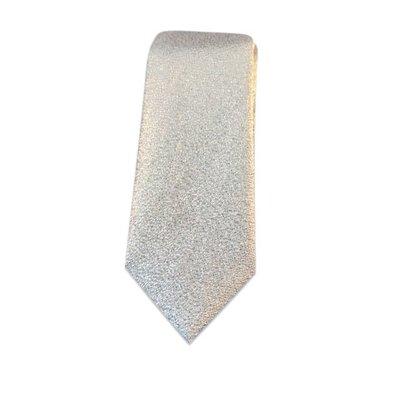 Stropdas zilver glitter small