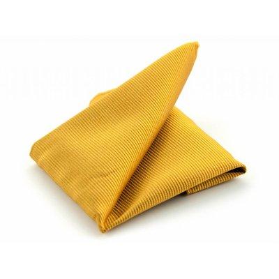 Pochet goud-geel zijde geweven