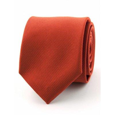 Zijde stropdas Brique-rood