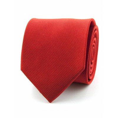 Zijde stropdas rood