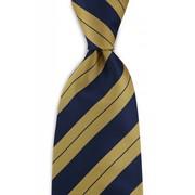 Stropdas geel/blauw 100% zijde