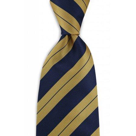 100% zijde stropdas geel/blauw