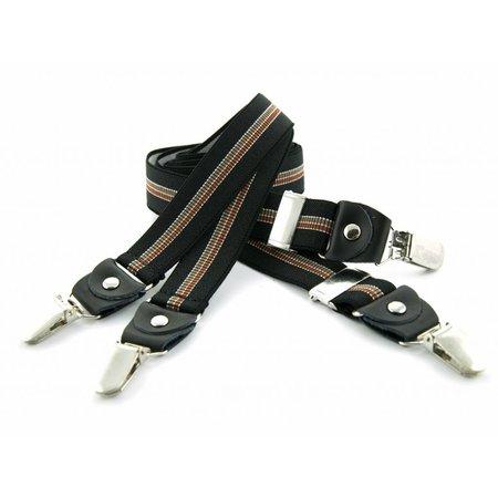 Bretels zwart/bruin 25mm