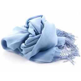 Shawl Licht blauw 25% zijde 75% Katoen
