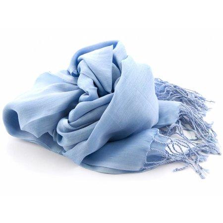 Shawl Lichtblauw 25% zijde 75% Katoen