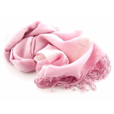 Shawl  Roze 25% zijde 75% Katoen