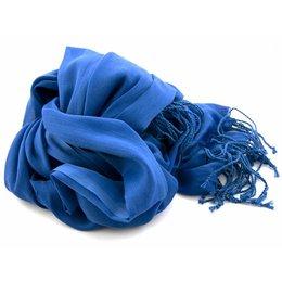 Shawl kobalt-blauw 25% zijde 75% Katoen