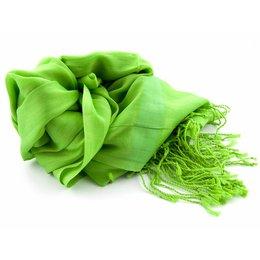 Shawl Groen 25% zijde 75% Katoen