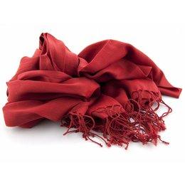 Shawl Rood 25% zijde 75% Katoen
