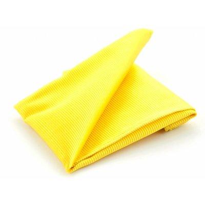 Pochet Geel zijde geweven