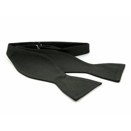 Vlinderdas Zwart 100% zijde