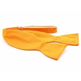 Vlinderdas Oranje 100% zijde
