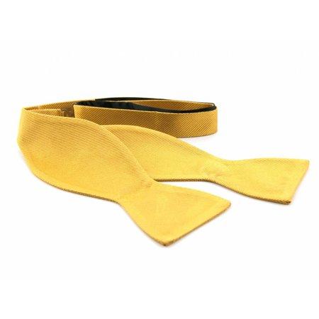 Vlinderdas goud 100% zijde