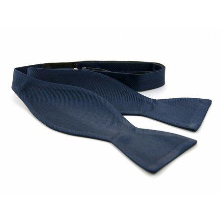 Vlinderdas Navy 100% zijde