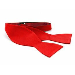 Vlinderdas rood 100% zijde