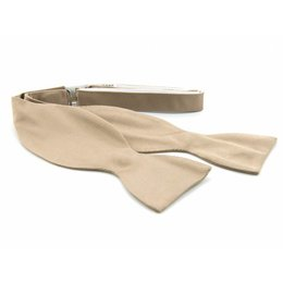 Vlinderdas Khaki 100% zijde