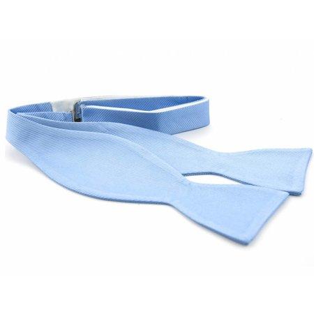 Vlinderdas lichtblauw 100% zijde