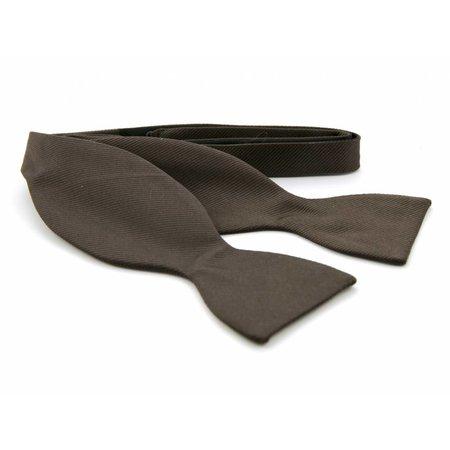 Vlinderdas Bruin 100% zijde
