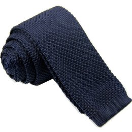 Gebreide stropdas Donker blauw