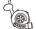 Boosted sticker