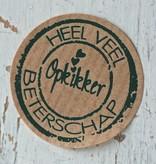 Ronde craft sticker Heel veel beterschap, 10st