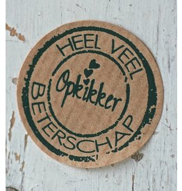 Ronde craft sticker Beterschap, 10st