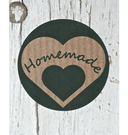 Ronde craft sticker Homemade, 10st