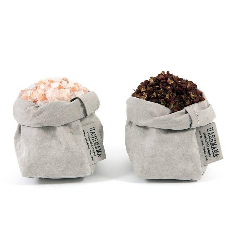 Uashmama Paper Bags XS Small grijs