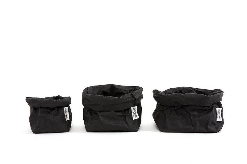 Uashmama Paper Bag Medium zwart