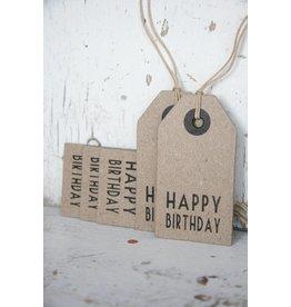 East of India Label karton Happy Birthday