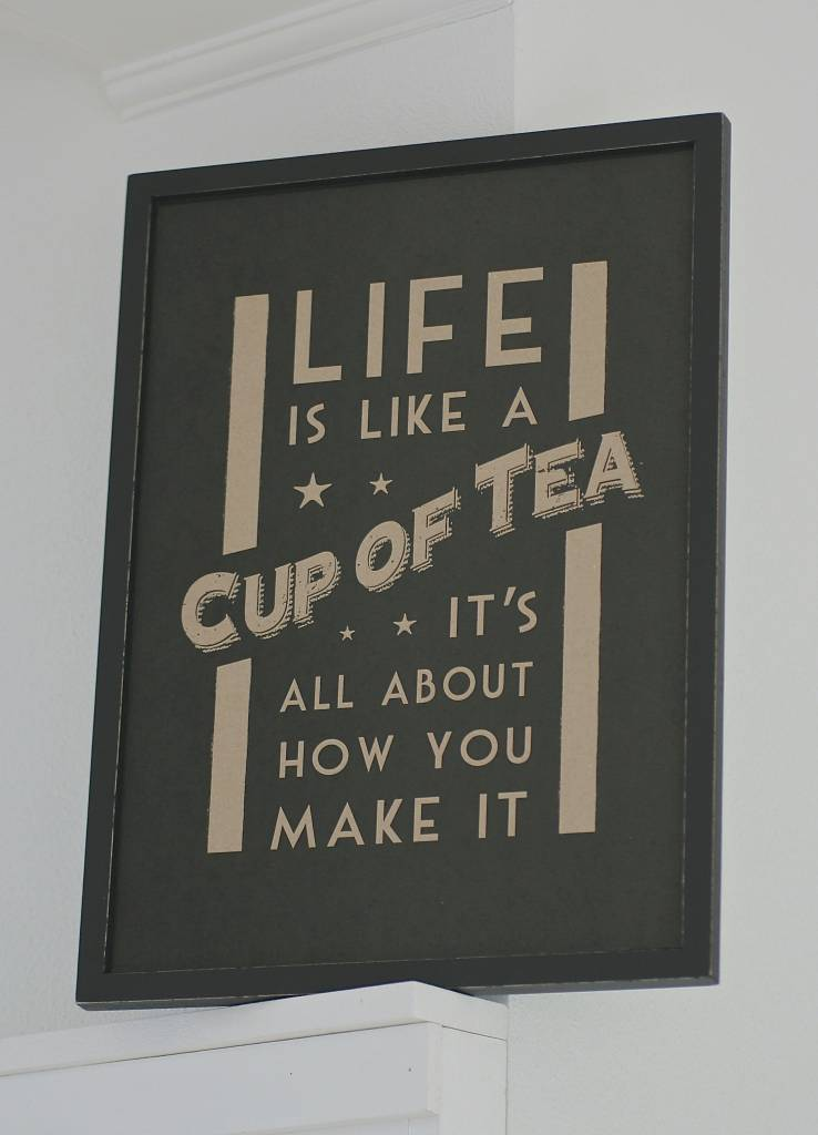 East of India Houten tekstbord Life is like a cup of tea