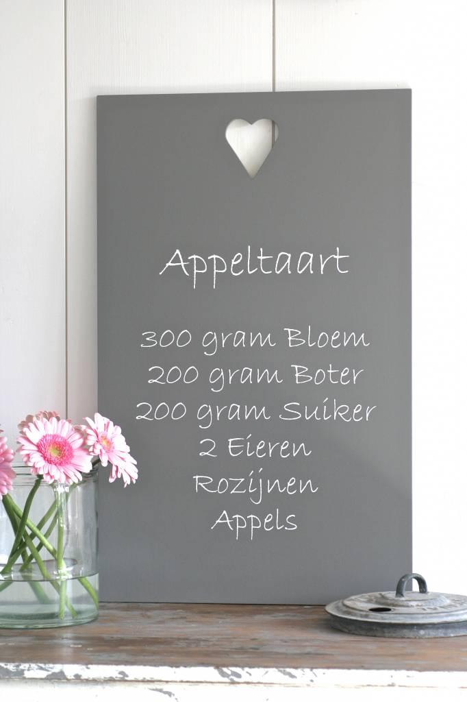 Tekstbord Keuken : Label123 Houten tekstbord recept Appeltaart – label123