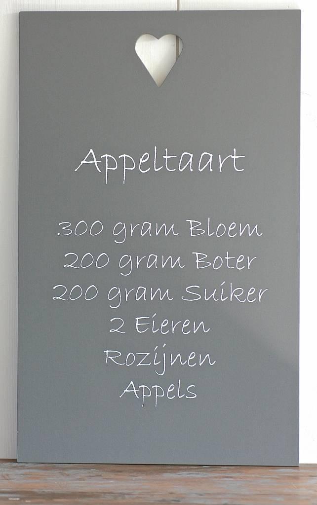 Houten Tekstbord Keuken : Houten tekstbord recept Appeltaart – label123