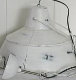 Brocante industrieele lamp wit klein