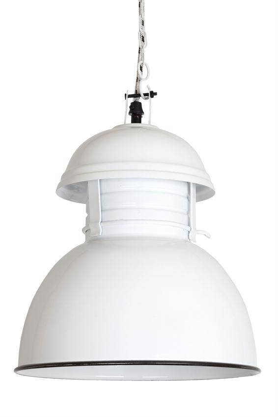 HK Living Industriële warehouse lamp M wit